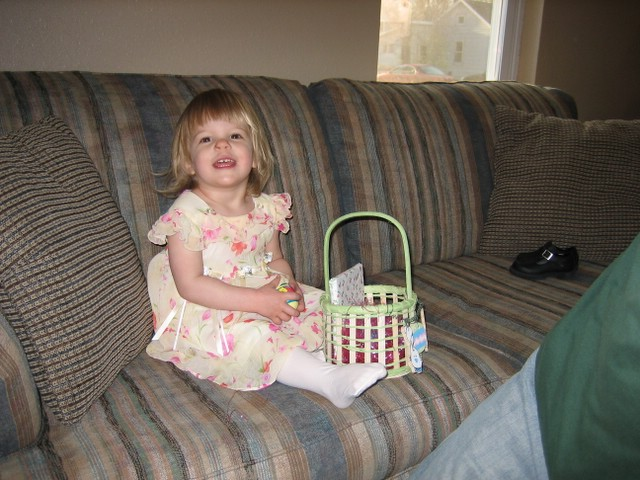 Kayla with her basket